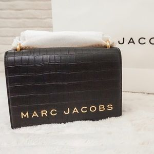 RARE Croc Embossed MARC JACOBS Double Take Bag